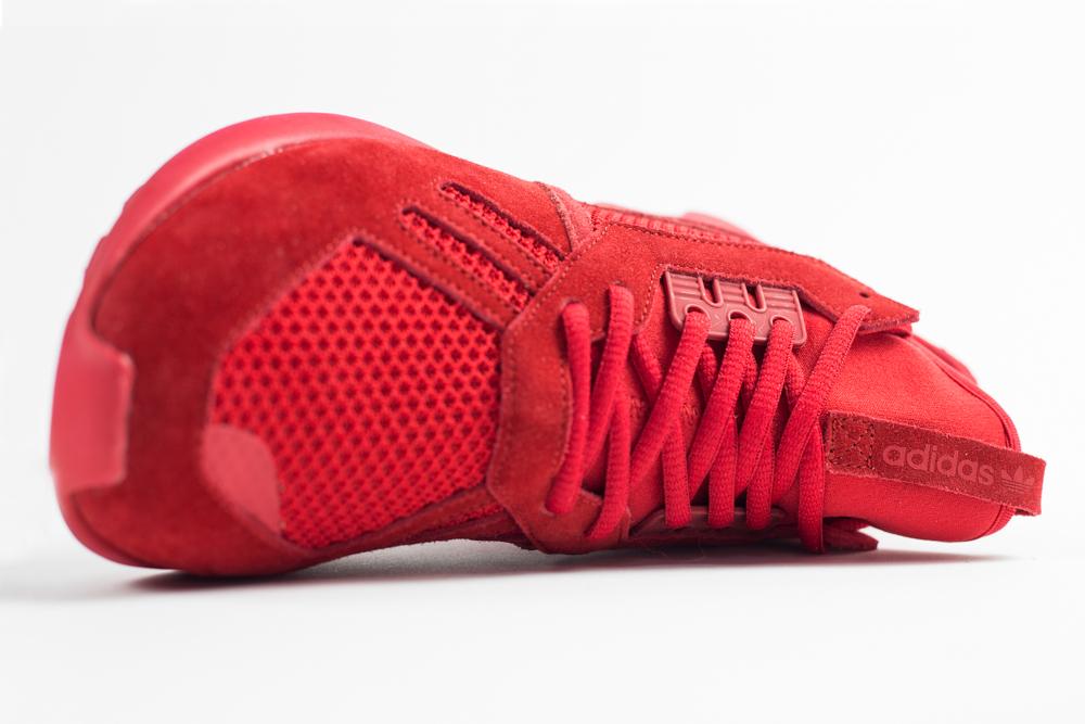 rouge adidas tubular mono