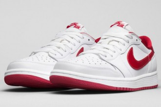 new air jordan 1 low OG white varsity red