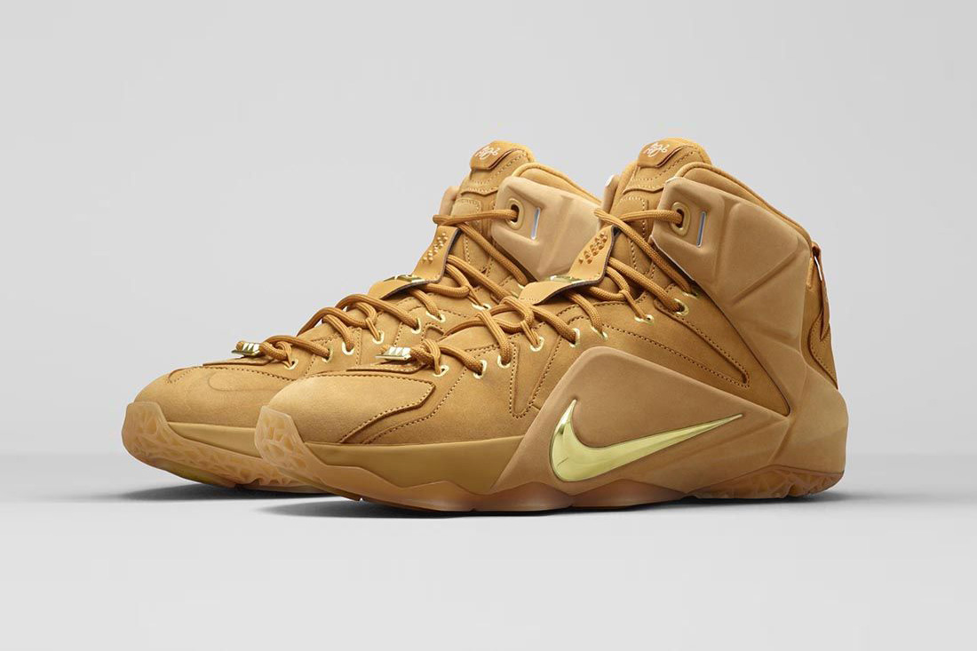 Nike LeBron 12 ext wheat 1