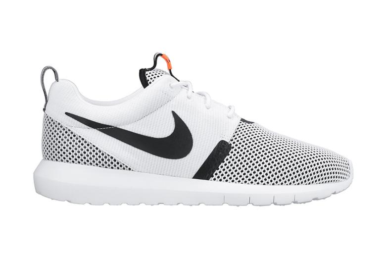 Nike Roshe Run NM Breeze White/Black-Hot Lava