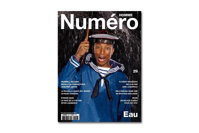 Pharrell Williams en une de «Numéro Homme»