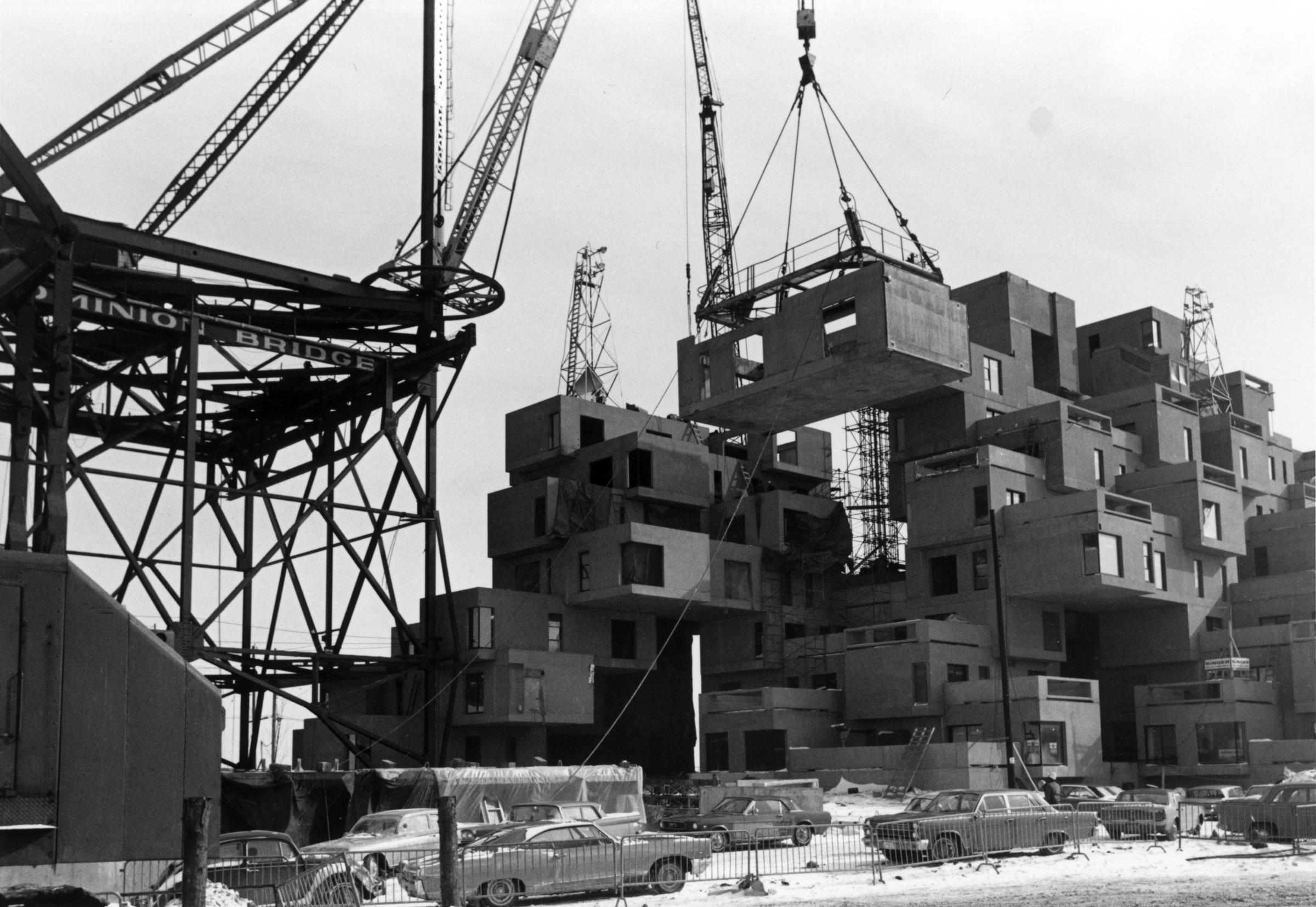 construction d'Habitat 67