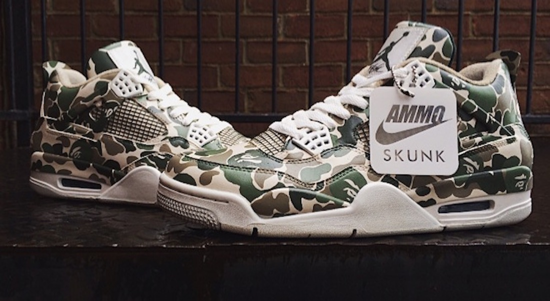Air Jordan 4 version BAPE par AMMOSKUNK
