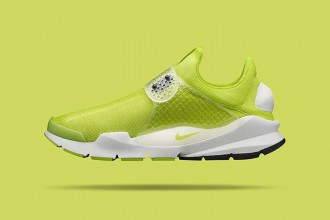 nike sock dart yellow green