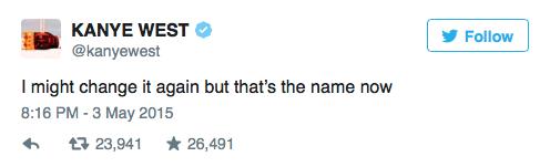 Kanye West Swish