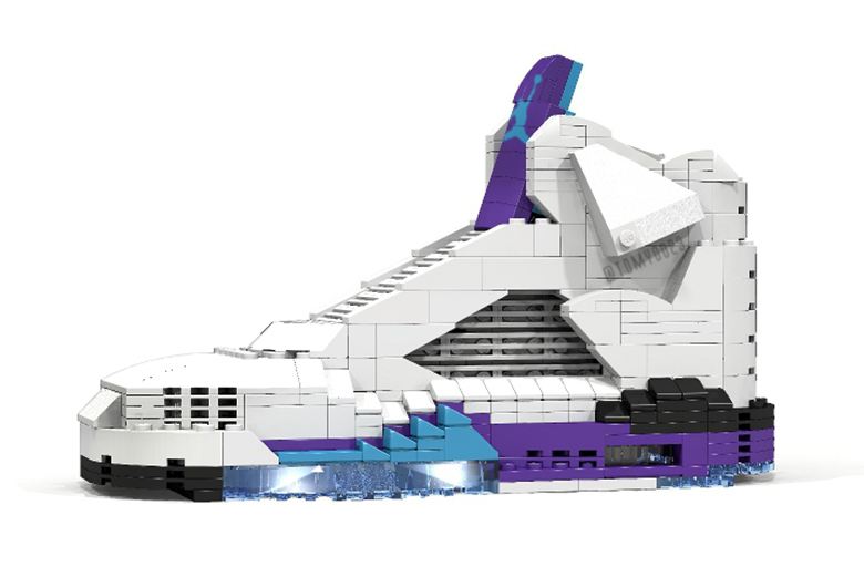 "Air Jordan V ""GRAPE"" en Lego par Tom Yoo"