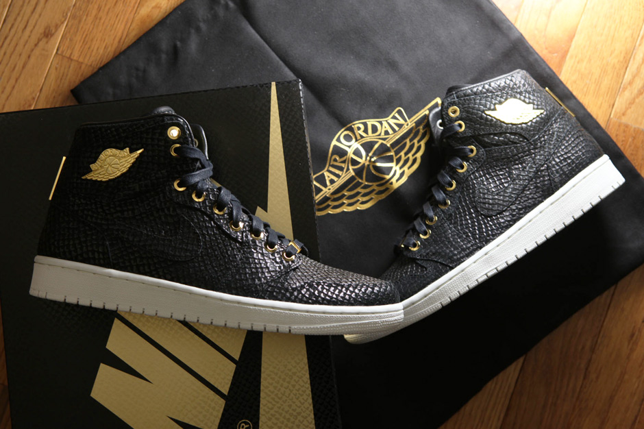 Air Jordan 1 « Pinnacle » Black/Metallic Gold et White/Metallic Gold
