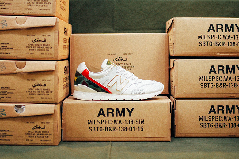 SBTG x Born & Raised x New Balance MRL996EW « Bravo Romeo »