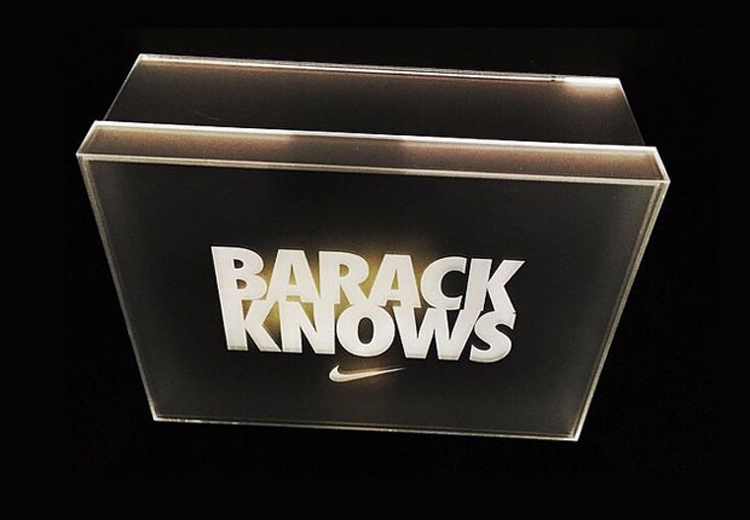 « BARACK KNOWS » : La Air Jordan MTM pour Obama !