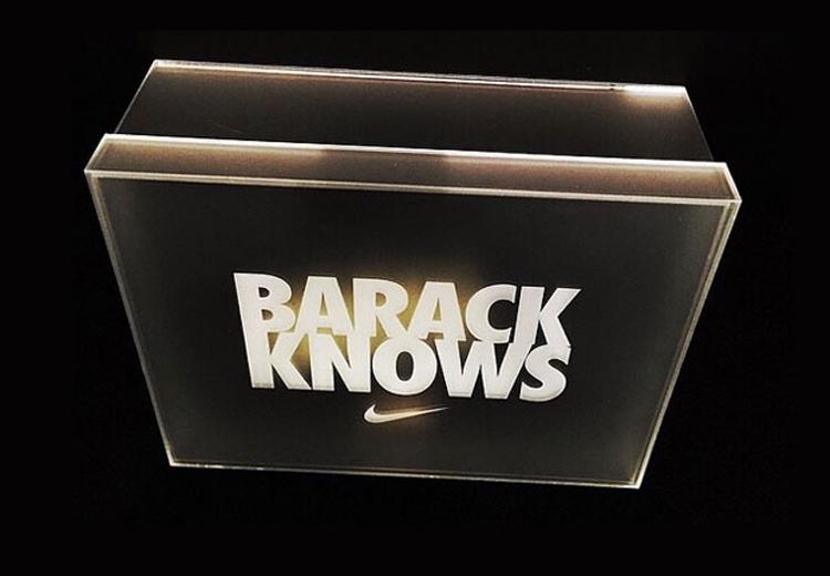 «BARACK KNOWS» : La Air Jordan MTM pour Obama !