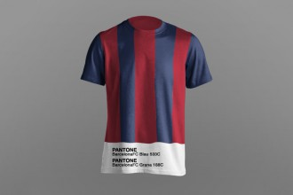 Paulo Oliveira imagine des maillots de football à la sauce Pantone