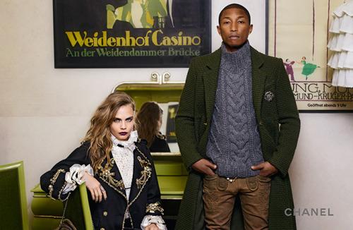 Chanel : Cara Delevingne & Pharrell à nouveau réunis