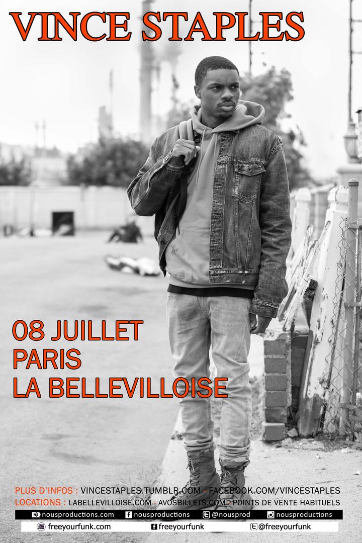 2×2 places à gagner pour le concert de Vince Staples le 8 juillet à La Bellevilloise