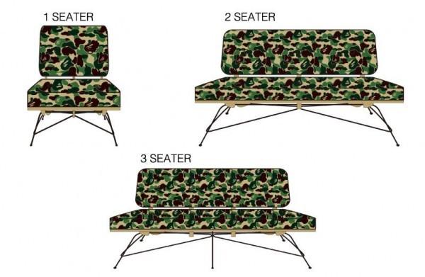 Un sofa BAPE dans votre salon ? C'est possible, bien sûr