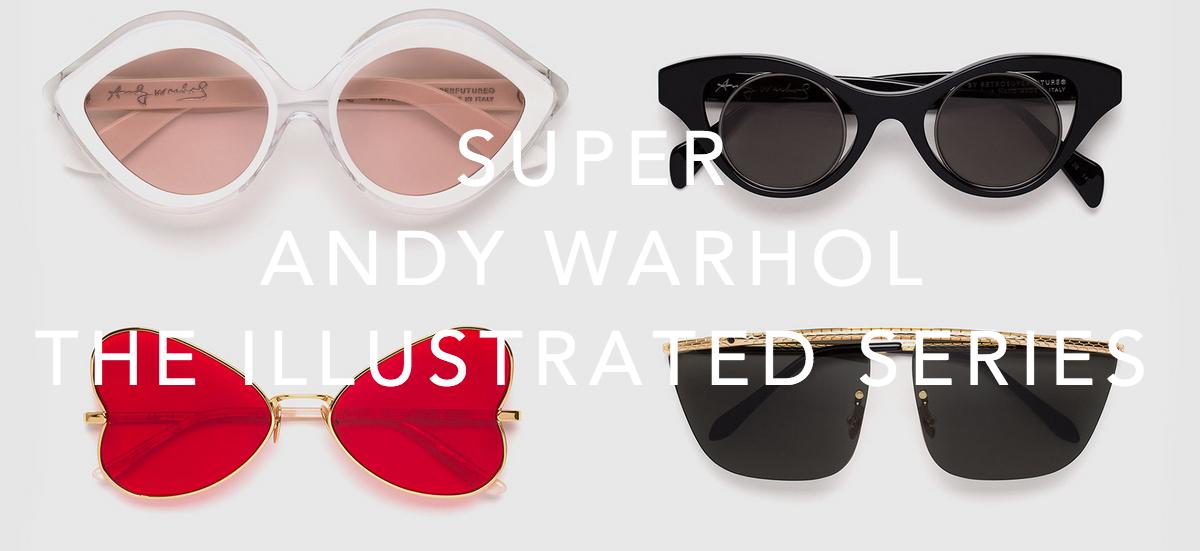 RetroSuperFuture invite la fondation Andy Warhol a relooker vos lunettes de l'été