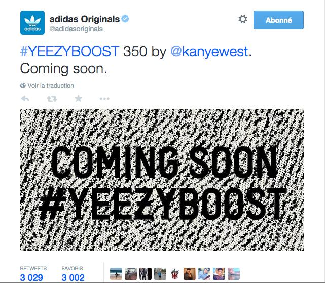 Yeezy Boost : Coming Soon !