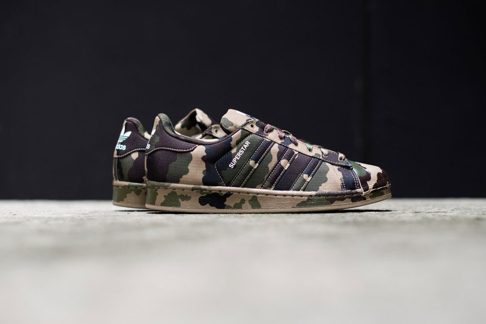 Zoom sur la nouvelle adidas Originals Superstar Camo / Hemp