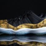"""Nouvelles Air Jordan 11 Low """"Golden Snake"""" customisée par Tony Chen"""