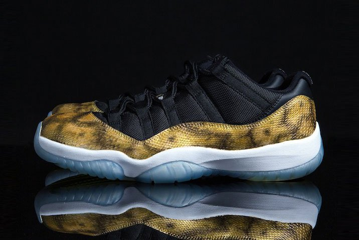 Nouvelle Air Jordan 11 Low « Golden Snake » customisée par Tony Chen