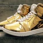 """Air Jordan 1 """"Liquid Metal"""" : on poursuit la série dorée !"""