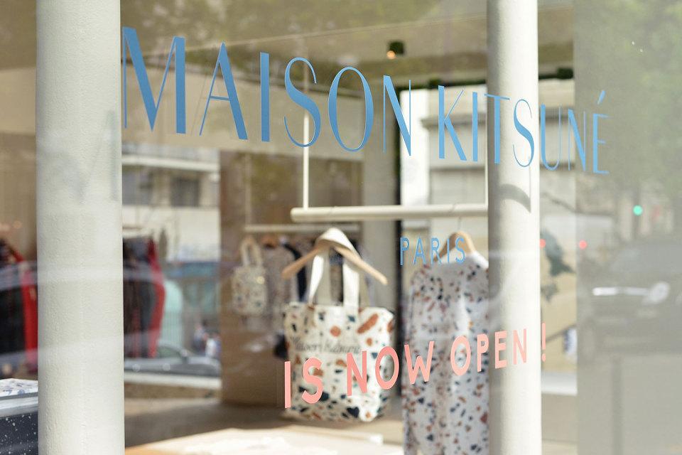 maison kitsuné new shop paris