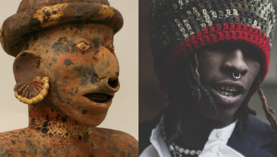 Left: Male Ancestor. 1st–4th century. Mesoamerica. Nayarit  - Right: Young Thug