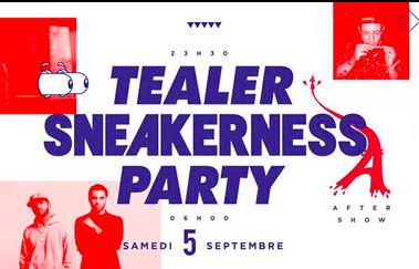 Gagnez vos places pour la Tealer x Sneakerness party !