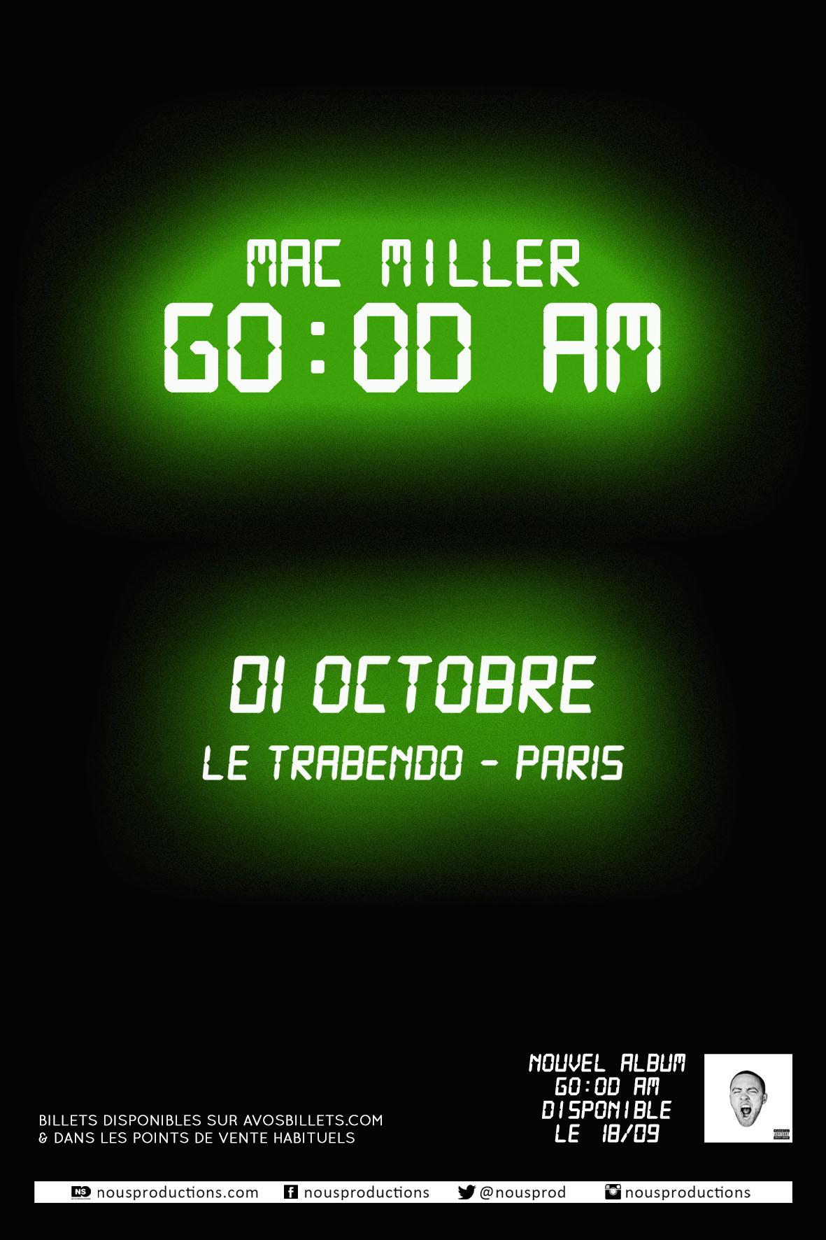 Gagnez vos places pour le concert de Mac Miller au Trabendo