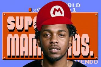 Kendrick Lamar en mashup avec super mario bros