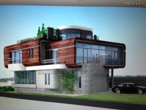 Elie Jr et un projet de maison du futur, encore jamais construite