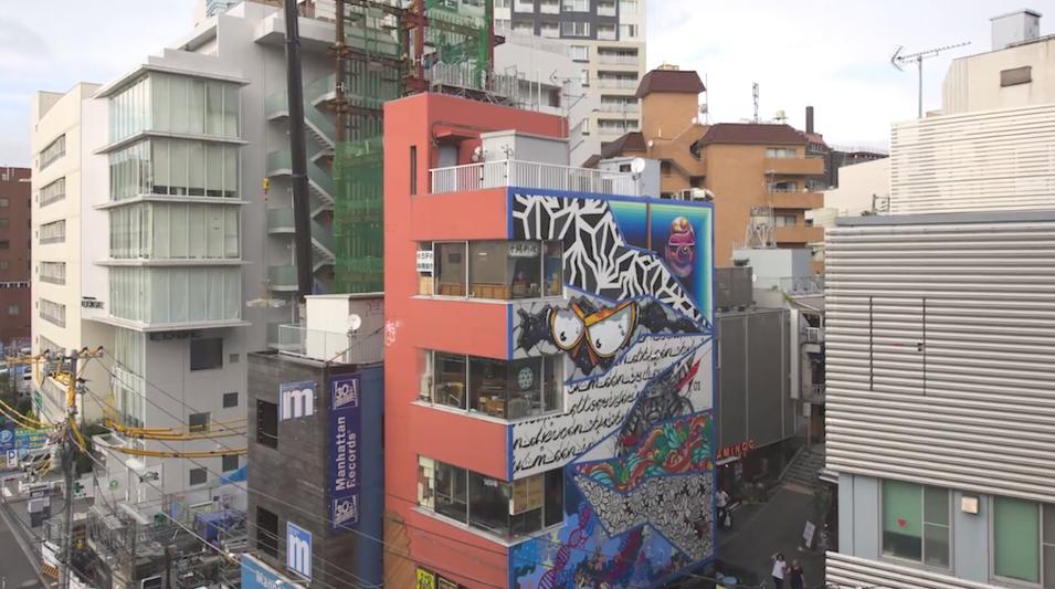 Un avant gout street art du POW! WOW! Festival Japan