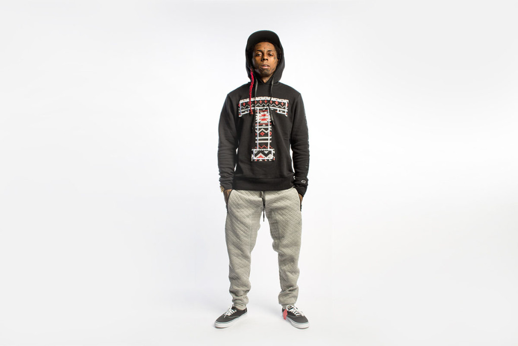 Lil Wayne wearing the rebranded Trukfit collection.