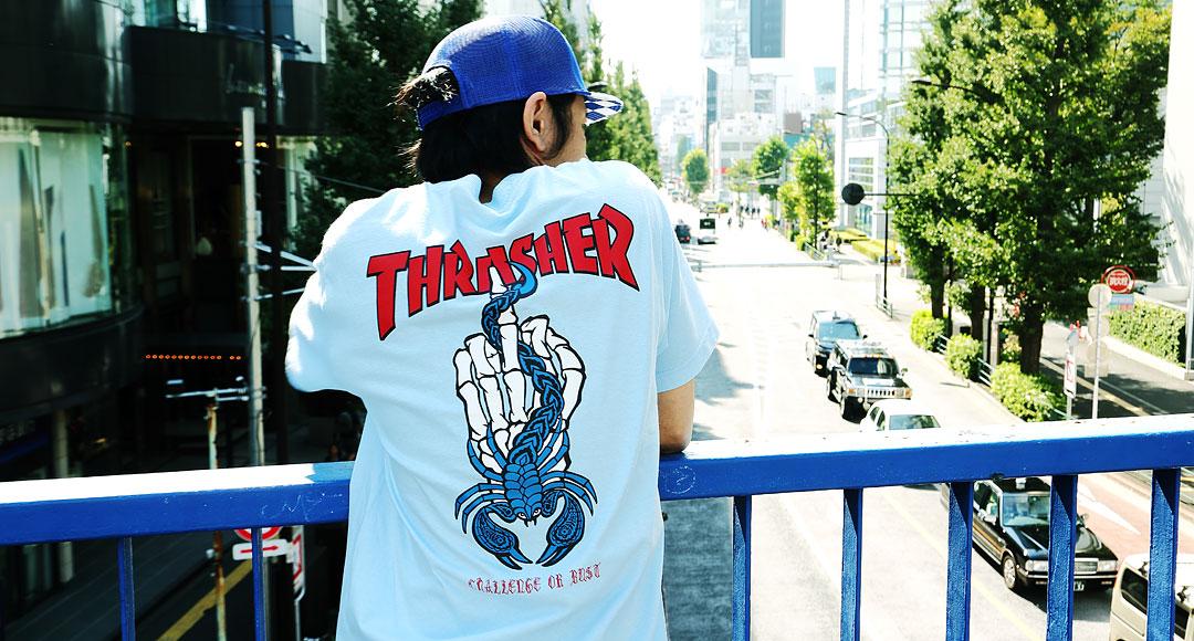 Thrasher x Challenge : collaboration entre esprits rebelles.