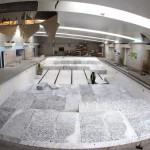 piscine transformée en skate park