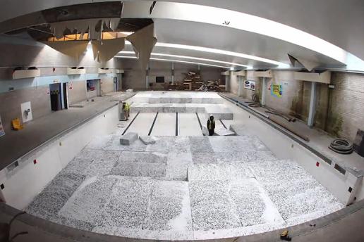 TimeLapse : Quand une piscine est transformée en Skate Park !
