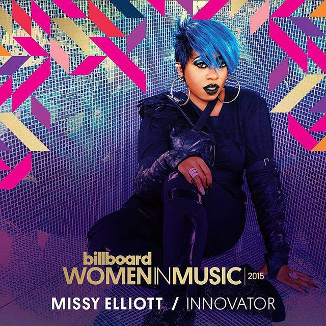 Missy Elliott mise à l'honneur par Billboard lors des « Women in Music 2015 »