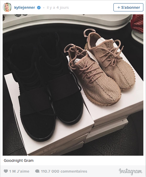 Kylie Jenner dévoile l'adidas Yeezy Boost 350 Oxford Tan