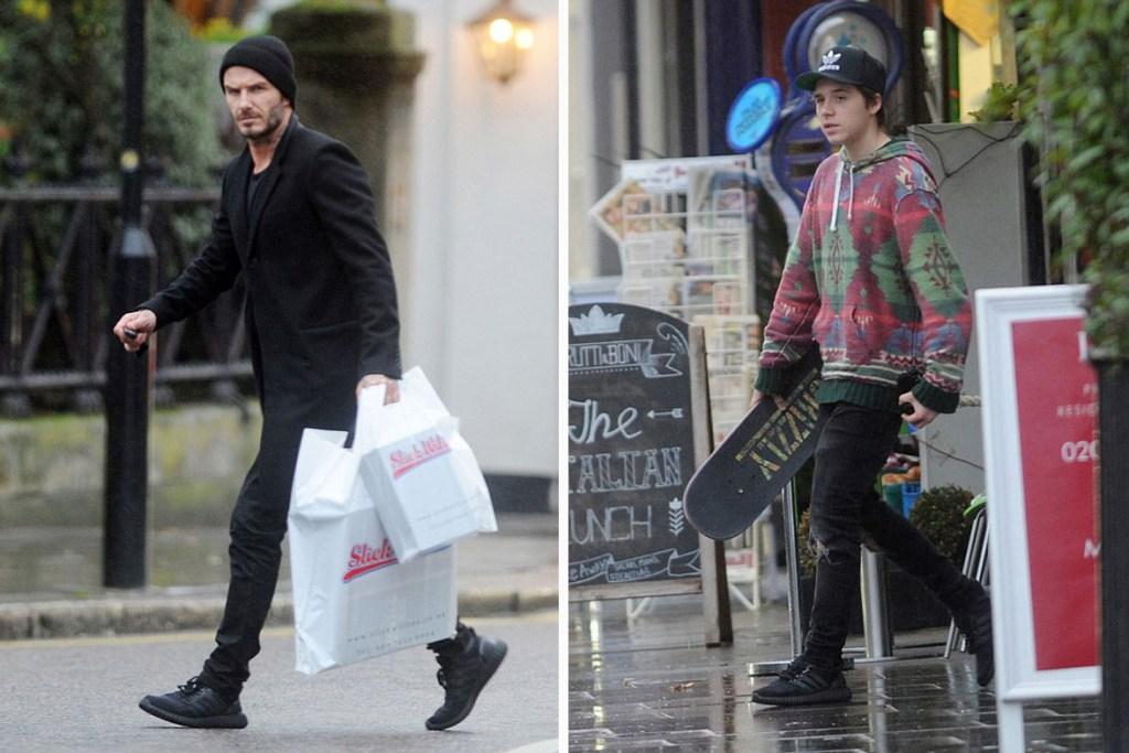 Adidas Yeezy Ultra Boost : une sneakers hybride aux pieds de David Beckham