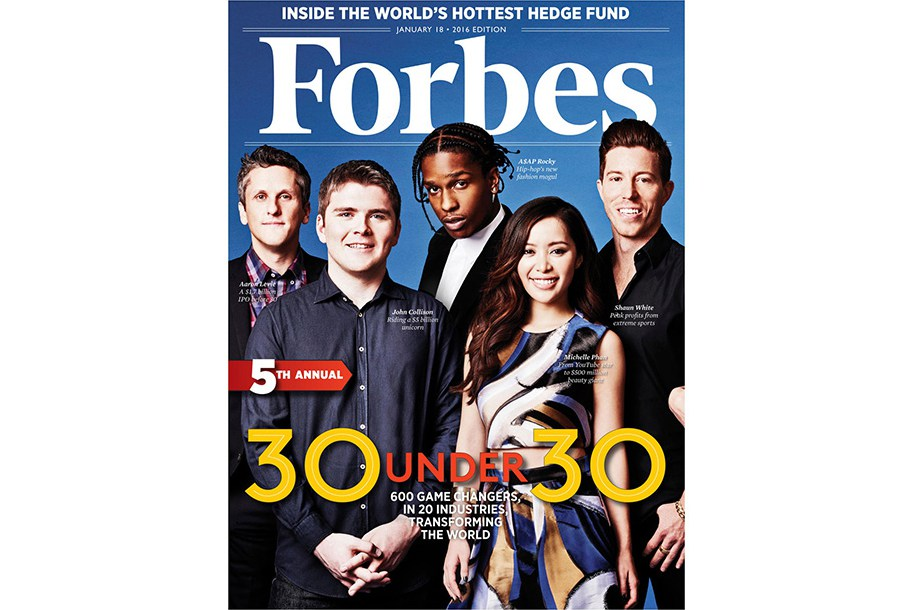 A$AP Rocky, Stephen Curry, Fetty Wap dans le Forbes « 30 Under 30 » de 2016