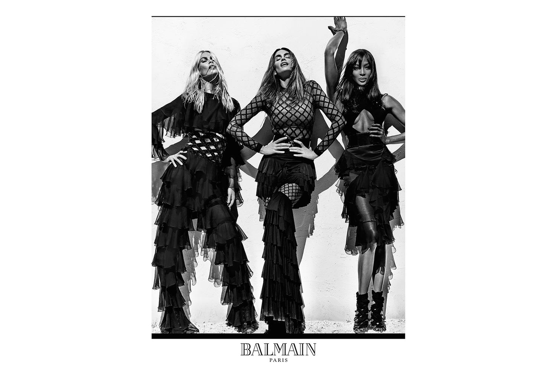 Balmain choisit Naomi Campbell, Claudia Schiffer et Cindy Crawford pour sa campagne printemps 2016
