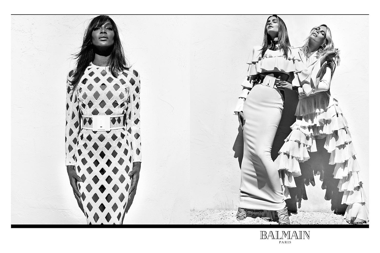 Naomi Campbell, Cindy Crawford et Claudia Schiffer réunies pour la campagne printemps 2016 de chez Balmain