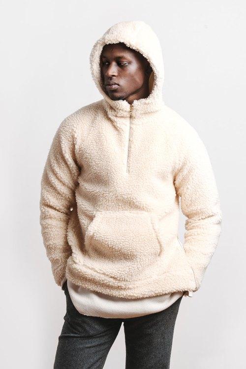 Aimé Leon Dore : veste blanche collection hiver 2015