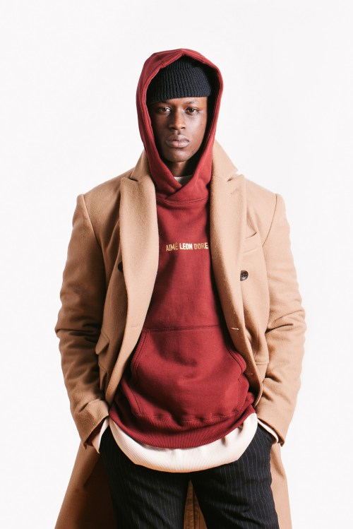 Aimé Leon Dore : sweat rouge collection hiver 2015
