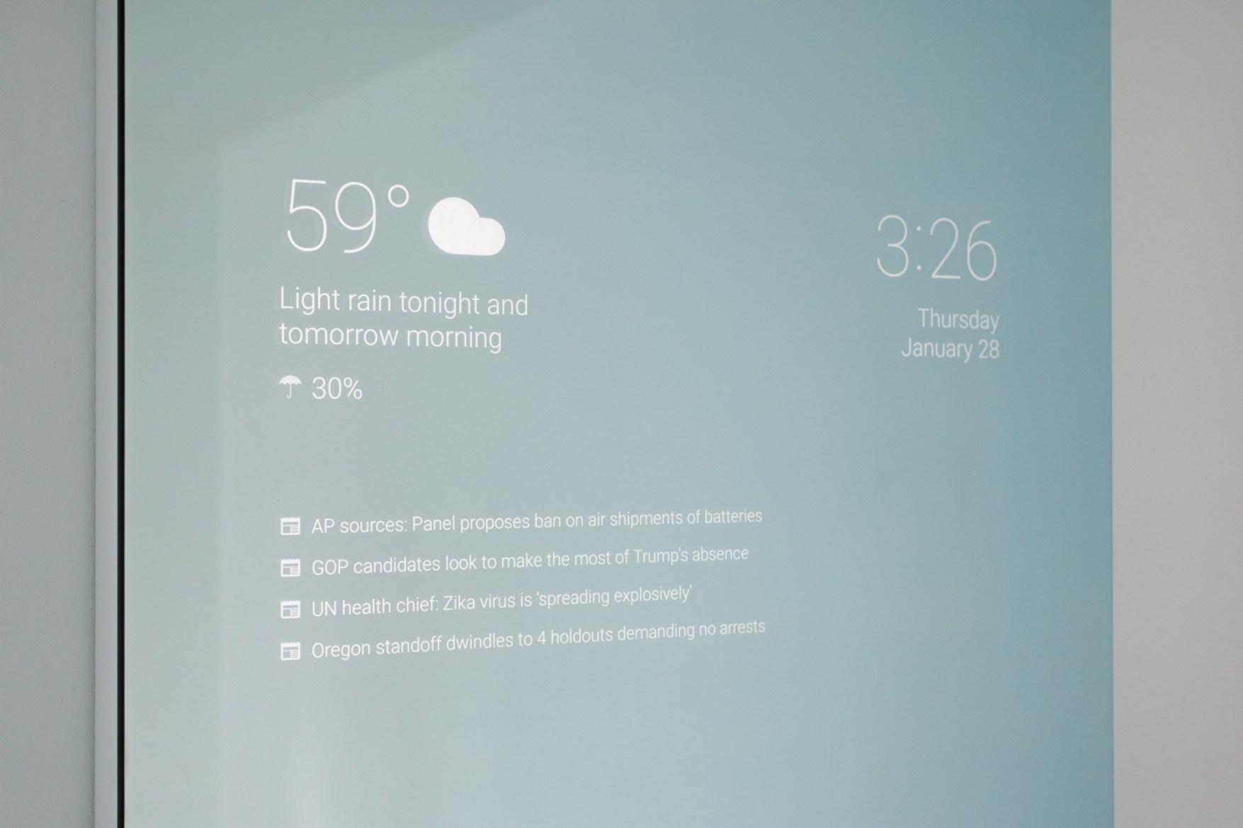 Google s'essaie au miroir du futur