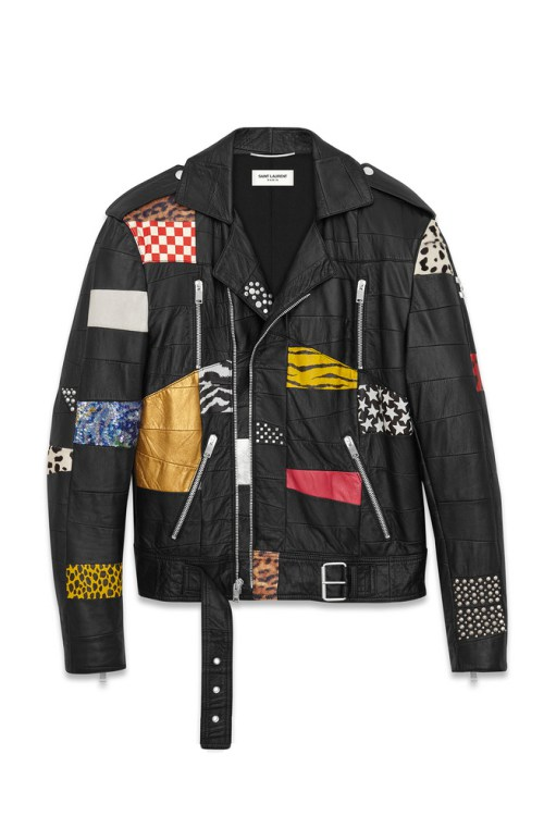 La veste de biker version Saint Laurent Paris
