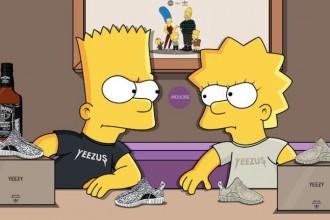 Les simpsons portent la collection Yeezy season 3 de Kanye West