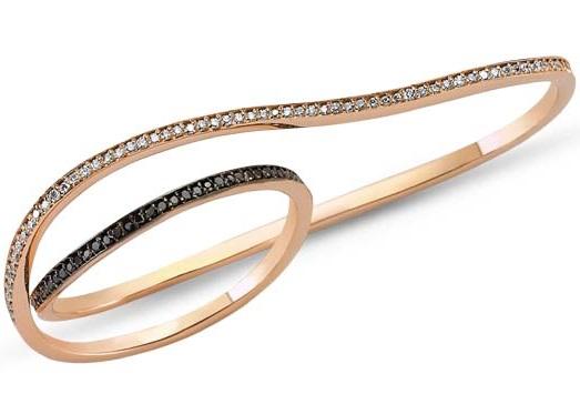 FIYA-BIJOUX-Anneau-2-doigts-Eternity-or-rose-et-diamants-blancs-et-noirs-104621
