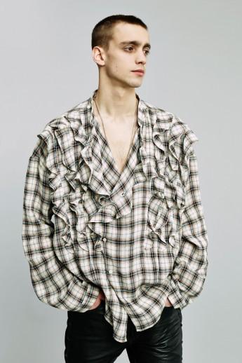 faith connexionoversize-frill-shirt