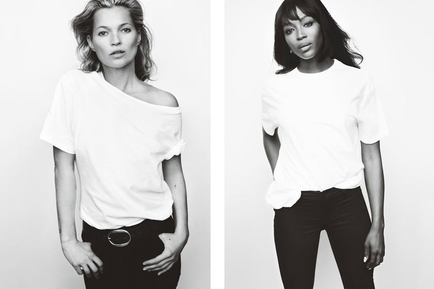 Naomi Campbell et Kate Moss posent contre le cancer