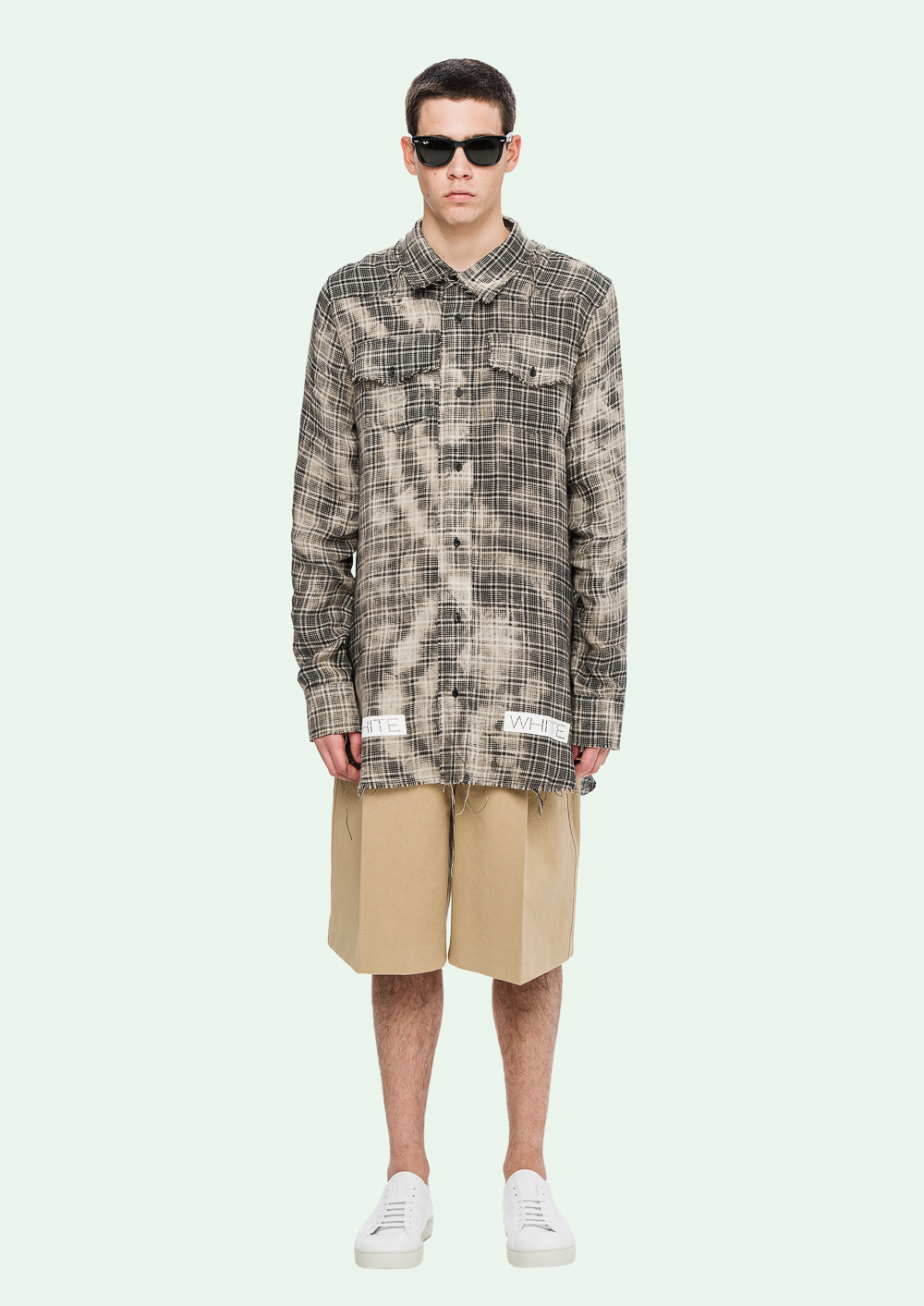 off white flanel